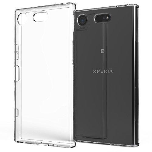 NALIA Custodia compatibile con Sony Xperia XZ1 Compact, Cover Protezione Silicone Trasparente Sottile Gel Case, Copertura Gomma Lucida Morbido Ultra-Slim Protettiva Telefono Cellulare Bumper Guscio