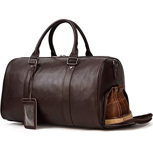 本革 ボストンバッグ メンズ ゴルフ鞄 レザー トラベルバッグ 大容量 2way 2泊 旅行鞄 靴入れ付き 旅行バッグ 機内持ち込み 底鋲付き ゴルフバッグ