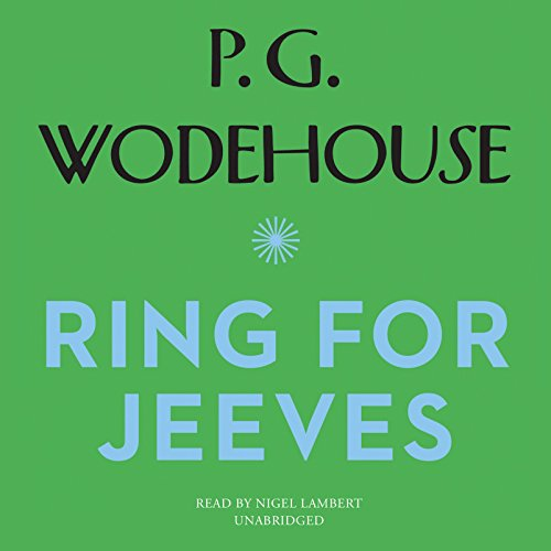 Ring for Jeeves audiobook cover art