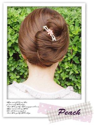 haclm604gdpecヘアアクセサリー髪飾り(リトルムーン)ドラマティッククリップイヴリーピーチ