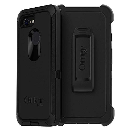 OtterBox Defender Series Case and Holster for Google Pixel 3 - Black (Renewed)