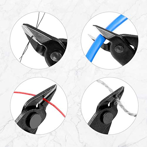 Wire Cutters, XOOL Precison Mini Flush Cutters with an Opening Spring, Ideal for Ultra-fine Cutting Needs for Electronics,Model,Jewelry,Model Kits