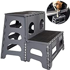 *** NEW 2020 *** Sturdy & Practical – Supports up to 300 pounds. Our patented, one-hand, open & close design makes it so easy to use and prevents the stress to their muscles and joints caused by jumping and landing. One Hand Open & Close – so quick &...