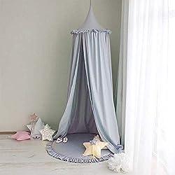 Betthimmel f/ür Kinder Baby Baldachin Spielzimmer Fotografieren Prinzessin Chiffon h/ängende Moskitonnetz f/ür Schlafzimmer Dekoration f/ür Bett und Schlafzimmer Grau