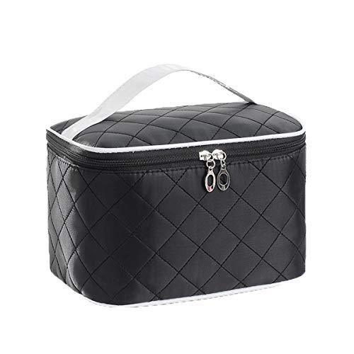 Sacchetto cosmetico, portatile, semplice, carino cuore ragazza, scatola di grande capacità, valigia estetica, nero