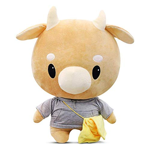 Helen-Sky Korean Drama Secretary Kim Cartoon Hard Cow Plush Stuffed Pet Doll Children Toys Birthday Pillow Lovely Doll Gift (60CM)