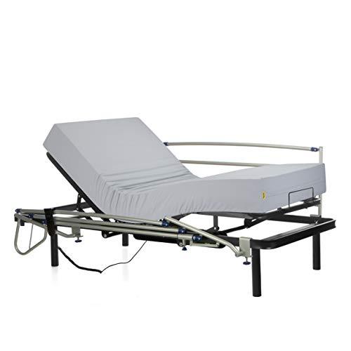 Ferlex - Cama articulada eléctrica geriátrica hospitalaria con Patas fijas | Colchón...