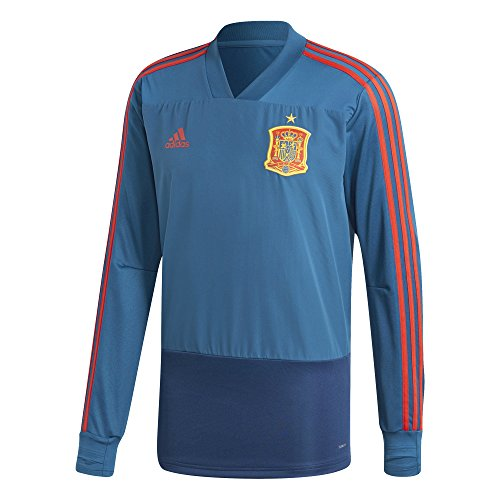 adidas Herren Spanien Trainingstop Sweatshirt, Triblu/Red, M
