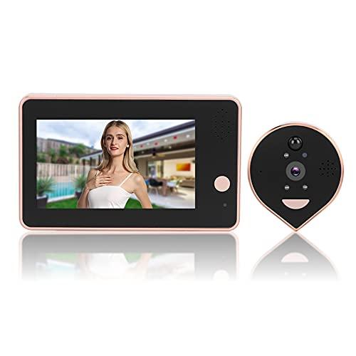 Mirilla con video WIFI, visor de puerta HD, intercomunicador bidireccional, teléfono, monitoreo remoto, PIR, visión nocturna, timbre inalámbrico