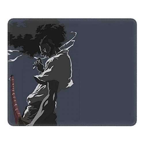 Afro Samurai Anime Black Hair Warrior Cartoon Office Game Alfombrilla de goma antideslizante, resistente a la suciedad, tacto suave y delicado, 10 x 30,5 cm