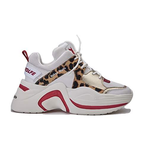 NAKED WOLFE Sneaker Track Red Leopard Taglia 36 - Colore LEOPARDATO