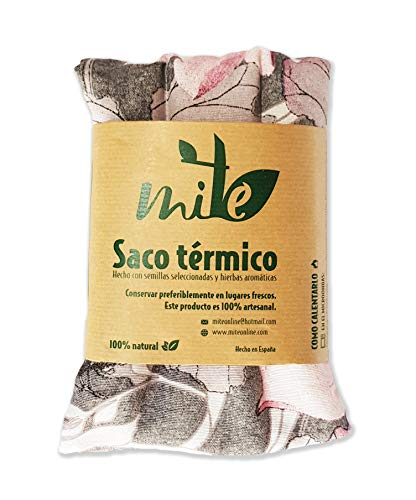 Saco térmico de semillas y hierbas multiusos (45cm x 15cm) Romero – MITE (Flor rosa)