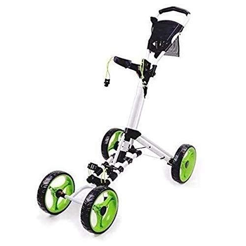 Push Golf Trolley 4 Räder Golf Trolley Trolley, Faltbarer Golf Push/Pull Cart mit Fußbremse, leichte Golf Carts, eine Sekunde zum Öffnen und Schließen des Faltwagens Fitnessgerät