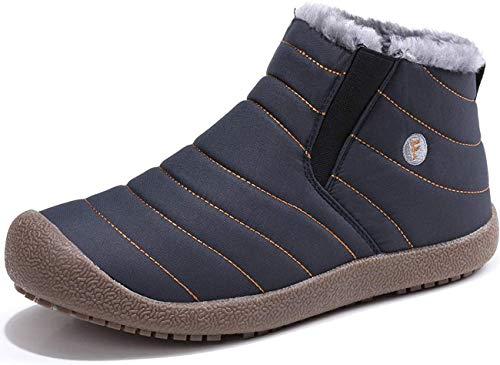 [SIXSPACE] スノーブーツ メンズ レディース ショート ブーツ スノーシューズ 防水 防寒 防滑 保暖 裏起毛 冬用 カジュアル 綿靴 雪靴 ブルー 26.5cm