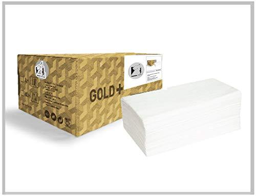Toallas secamanos (4.000 unidades) laminadas de dos capas, son muy absorbentes, resistentes y suaves. Toallas interdobladas en v, para dispensar en zig zag, 100% pura celulosa blanca.