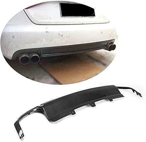 QINDE Para Audi A4 B8 2009 2010 2011 2012 Fibra De Carbono Quad Outlet Difusor De Labios De Parachoques Inferior Trasero