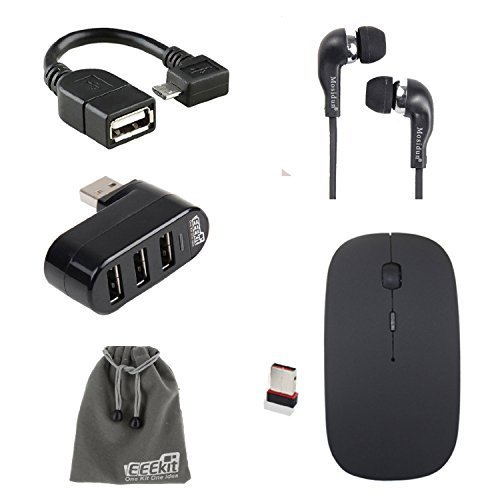 EEEKit 5in1 Office Kit for Samsung Galaxy Tab A 9.7/E-Fun Nextbook 10.1 Inch/Nextbook 8 Windows 8.1,OTG Cable, USB Hub,Wireless Mouse and Earphone