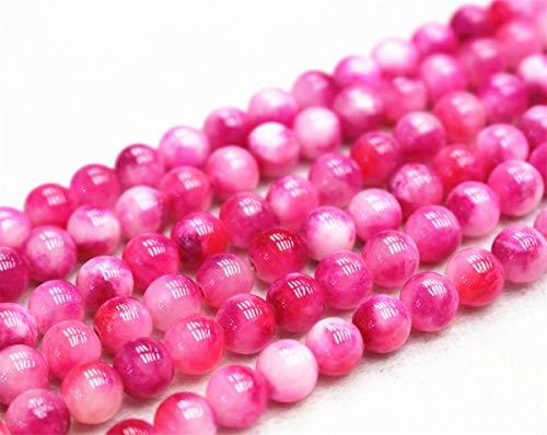 Perles de jade rondes et lisses de 6 mm, 8 mm, 10 mm, 12 mm. Vente en gros (8 mm, 47 pièces)