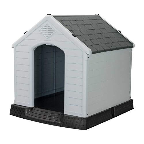 7H SEVEN HOUSE Caseta de Resina para Perros 98,5x105x96,5cm