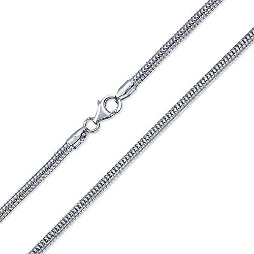Pesada Calibre 320 Fuerte Flexible 925 Plata De Ley 925 Snake Collar De Cadena Para Hombre En 30 Pulg.