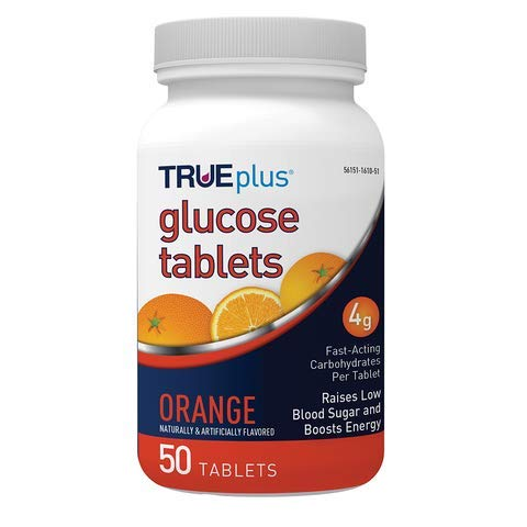 TRUEplus Glucose-Tabletten, Orange, 50 Stück
