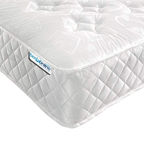BEDZONLINE Single Mattress Memory Foam Mattress. Sprung Single Mattress With Memory Foam And A Deluxe Knitted Star Micro Quilted Stretch Fabric. Fast (3ft Single Mattress)