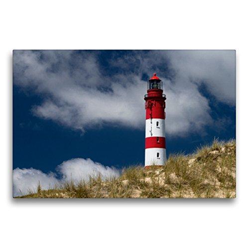 Premium Textil-Leinwand 75 x 50 cm Quer-Format Amrumer Leuchtturm   Wandbild, HD-Bild auf Keilrahmen, Fertigbild auf hochwertigem Vlies, Leinwanddruck von Ralf Kalytta