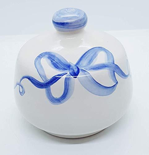 Nascondispugna Linea Fiocco blu per Cucina e Bagno Le Ceramiche del Castello Made in Italy