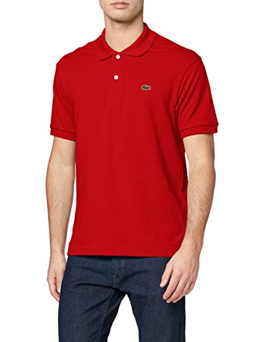 Lacoste Homme Short Sleeve Polo Shirt,Rouge (RED 240) Large (Taille fabricant:5)