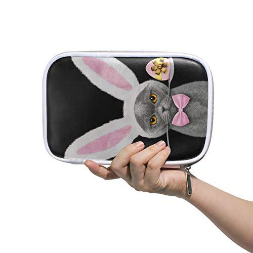 Woman Make Up Bag Pretty Cat Rabbit Ears Easter Egg Traveling Cosmetic Bag Pencil Case Women Multifunctional Makeup Pouch For Women For Men Women