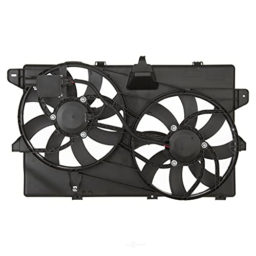 AutoShack FA721394 Radiator Dual Cooling Fan Assembly with Controller Replacement for 2007-2014 Ford Edge 2007-2015 Lincoln MKX 3.5L 3.7L