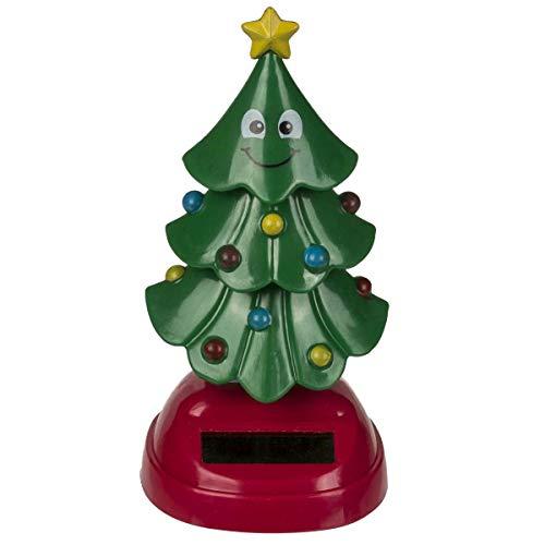Out of the blue Solar Wackelfigur Weihnachtsbaum 11 cm hoch, witzige Solarfigur, Sonne bringt den Tannenbaum zum 'tanzen', solarbetrieben, tolle Deko fürs Büro und zu Hause, witziges Geschenk!