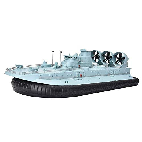 HZWZ RC Boat for Pools & Lakes, Military Ship Brushless Remote Control Ship with Gyroscope Amphibious Scale 2.4G Hovercraft Remote Control Boat RC Toy for Kids and Adults