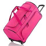 Travelite Basics Trolley Reisetasche Fresh Auf Rollen 70cm, in sechs Farben Cabas 71 Centimeters 89 Rose (Pink)
