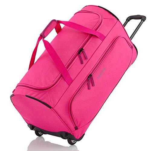 travelite 2-Rad Trolley Reisetasche Größe L, Gepäck Serie BASICS FRESH: Weichgepäck Reisetasche mit Rollen im sportlichen Design, 096277-17, 71 cm, 89 Liter, pink