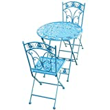 Daily Accessories Garden Furniture Table And 2 Chairs Folding Weatherproof Bistro Sets Patio Yard Outdoor Dining Furniture