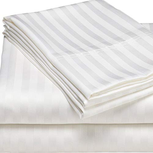 MIA we dress your home Poly Cotton White Flat Sheets Super King size | Hotel Quality Non-Iron Bed Sheets and Bedding Set Soft | Cool and Comfortable Microfiber Flat Sheet