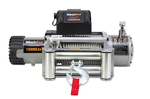 WinchPro - Cabrestante Eléctrico 12V 5900kg/13000lbs, 26m De Cuerda De Acero, 2 Mandos A Distancia Incluidos (1 Inalámbrico, 1 De Cable), Para Offroad, 4x4, Grúas ⭐