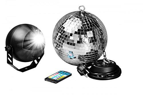 7even LED Spiegelkugelset 30cm mit Fernbedienung/Party Keller Disco Disko Kugel Motor Farbige LED