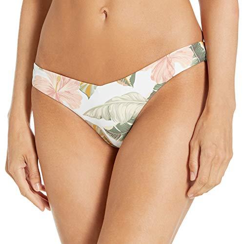 Rip Curl Damen Tropic Coast Skimpy Reversible Bikini Bottom Bikinihose, weiß, Medium