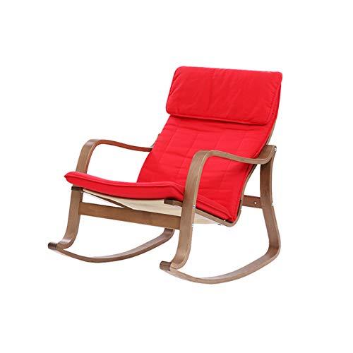 CJSWT Silla de balanceo de Patio al Aire Libre, sillas mecilloras Modernas Acolchadas con cojín, Soporte 330 Libras para Porche, terraza, balcón o Uso en Interiores