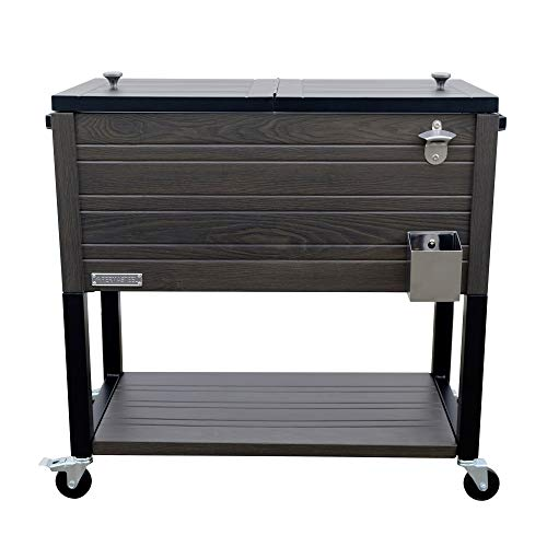 Permasteel PS-205-GRY-AM 80 Quart Patio Cooler, Warm Gray