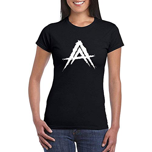 Mujer Anuel-AA Logo_ Black Short Sleeve Camiseta T-Shirt tee X-Large