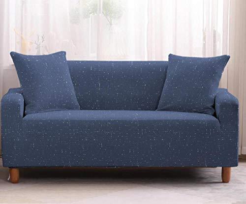 Protector de sofá con Patrón Azul Estampado,Fundas de Sofá Elasticas de 1 Plazas,Poliéster Suave con Funda elástica,Antideslizante Protector Cubierta de Muebles