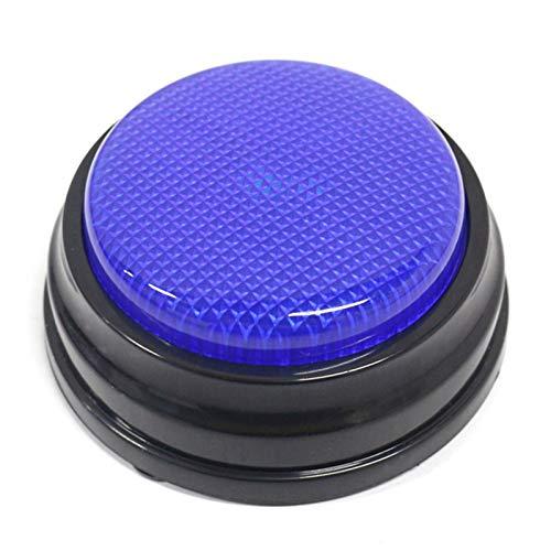 Walmeck Aufnahmefähige Sprechtaste mit LED-Lernressourcen Antwortsummer Blau