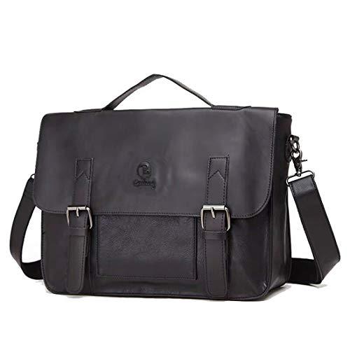 Berchirly 14Inch Vintage Men Laptop Briefcases Messenger Bags Document Carrier Crossbody Bag