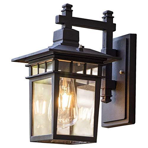 Garden Lights European Retro Waterproof Outdoor Wall Lamp Outdoor Balcony Corridor Aisle Glass Wall Light