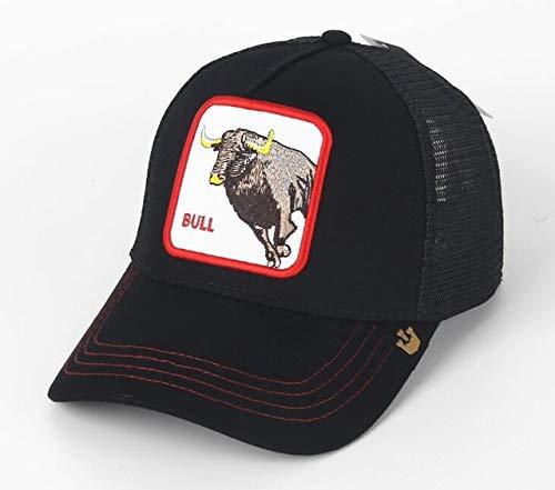 Nueva Gorra de béisbol con Bordado de Animales, Bonito Bordado de Anime, Malla de Verano para Hombres, Sombreros de Conductor de camión con sombrilla para Exteriores-a49-Adjustable