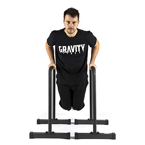 Gravity Fitness Parallettes, Dip Bars - XL - New 38mm Handles for Calisthenics, Crossfit, Home & commercial use