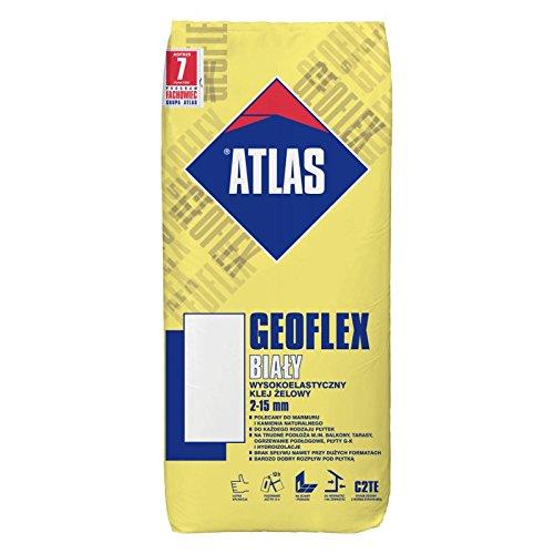 ®ATLAS Natursteinkleber FlexibleSilikat Gel Kleber Klasse C2TE ATLAS GEOFLEX WEIß 25 Kg